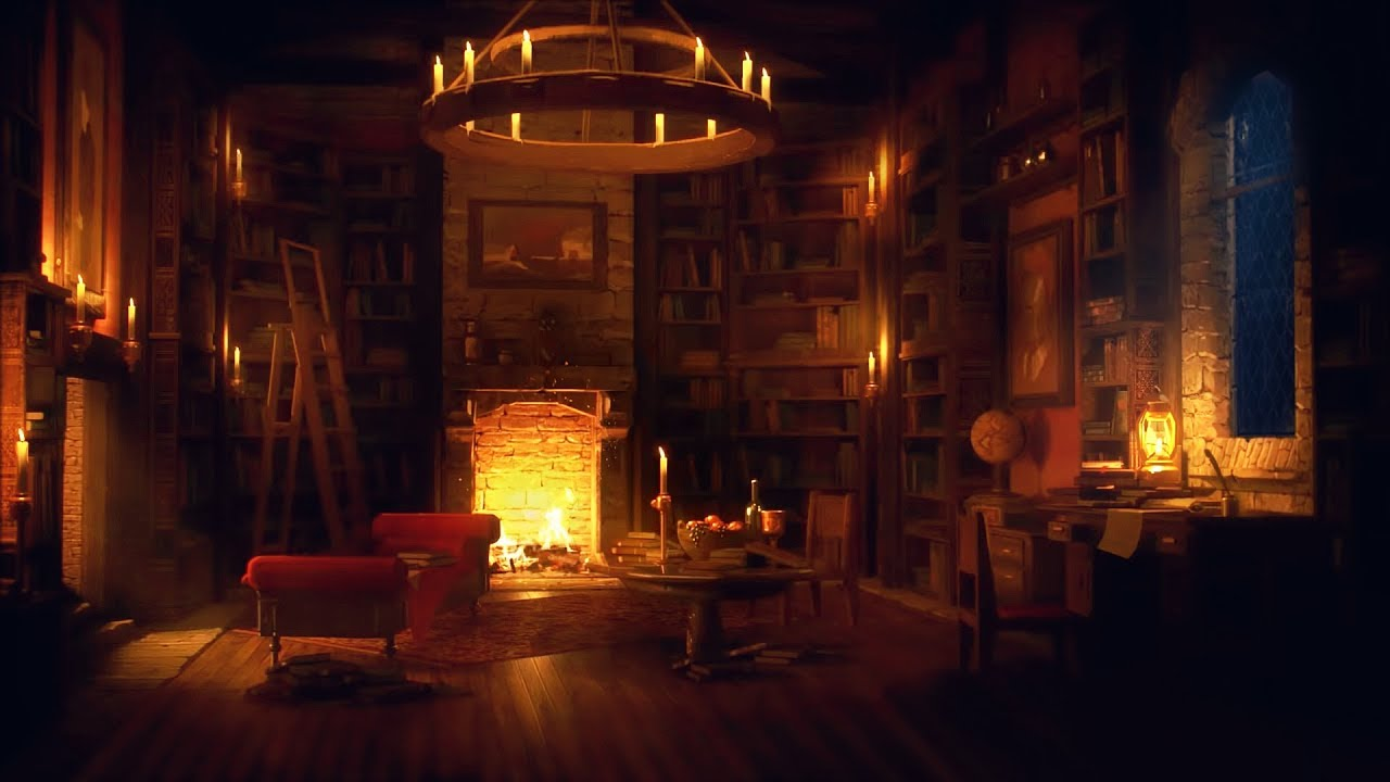 Ancient Library Room